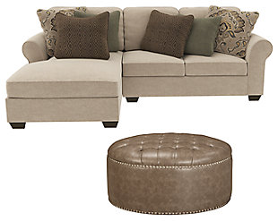 Wilcot 2-Piece Sectional with Ottoman, , large