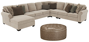 Wilcot 5-Piece Sectional with Ottoman, , large