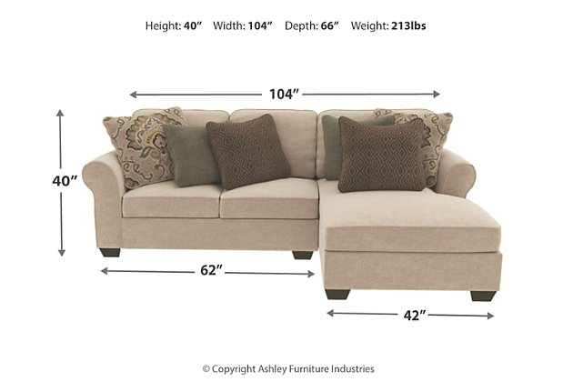 Wilcot 2 Piece Sectional With Chaise Large
