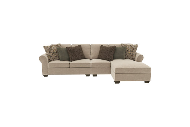 Wilcot 3 Piece Sectional With Chaise Ashley Furniture