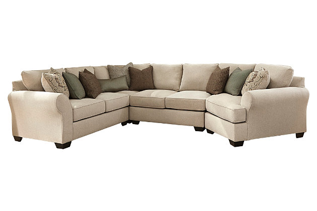 Wilcot 4 piece sofa sectional with cuddler ashley for Wilcot 4 piece sofa sectional