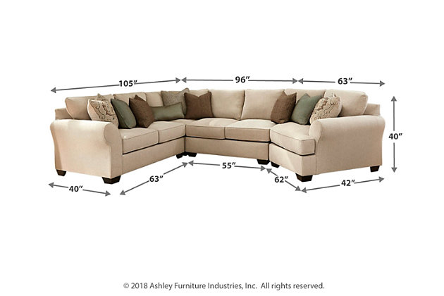 Wilcot 4-Piece Sectional with Cuddler, , large