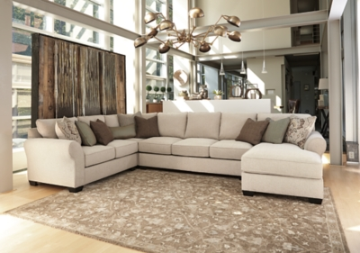 Trustworthy Sofa Sectional Linen Piece Product Photo