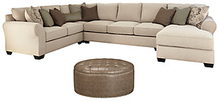Wilcot 4-Piece Sectional with Ottoman, , large