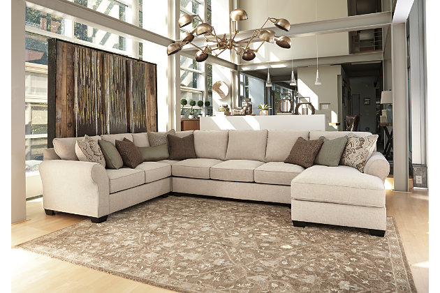 ashley furniture sectional couch Wilcot 4 Piece Sofa Sectional | Ashley Furniture HomeStore ashley furniture sectional couch