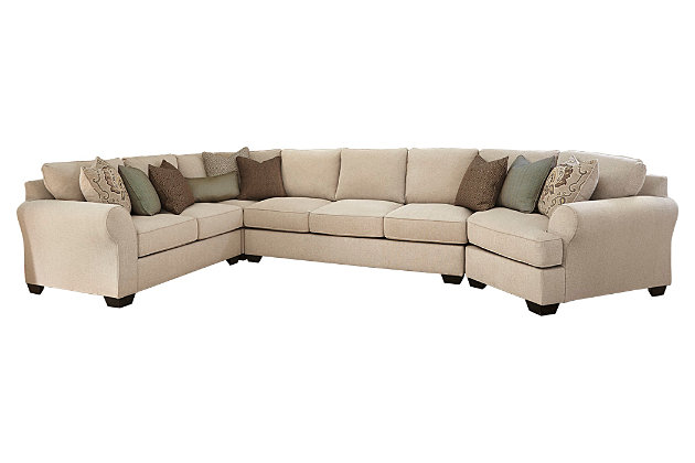 ... Wilcot 4 Piece Sofa Sectional With Cuddler, , Large ...