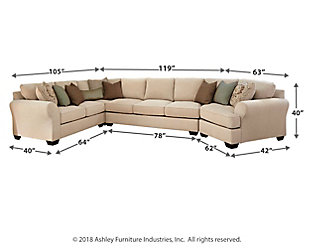 Wilcot 4 Piece Sofa Sectional With Cuddler Large