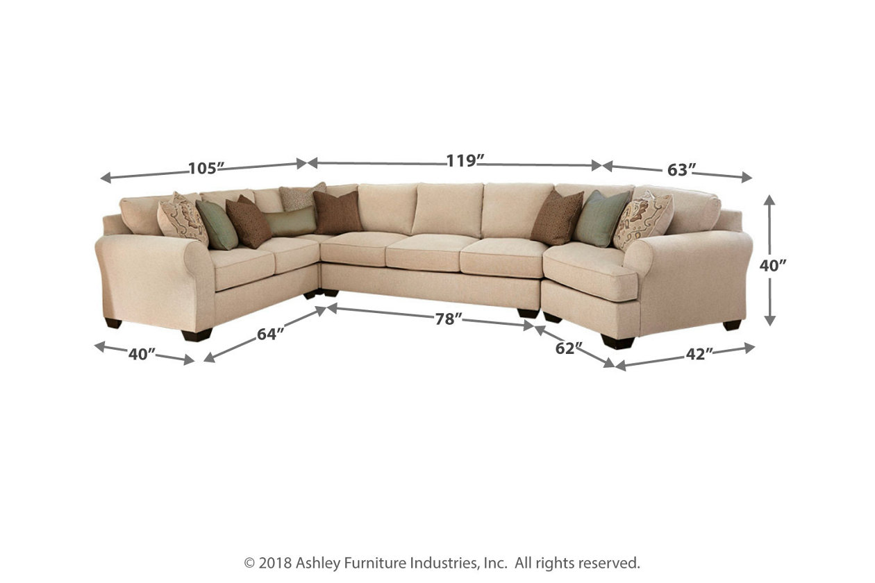 brand new 7fd33 292b1 Wilcot 4-Piece Sectional with Cuddler | Ashley Furniture ...