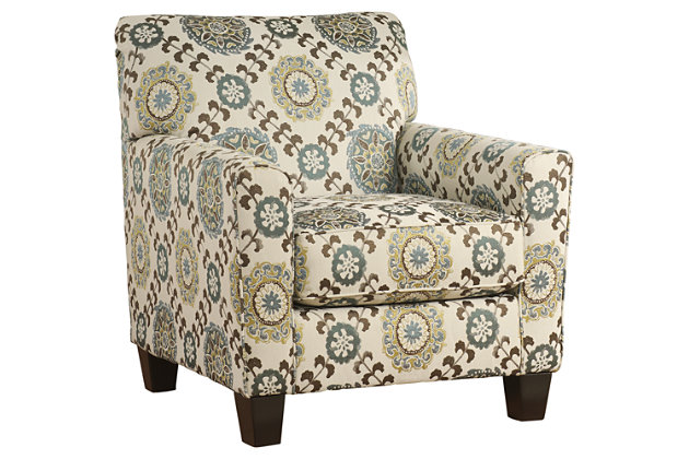 White Blue And Brown Accent Chair For Your Living Room Décor