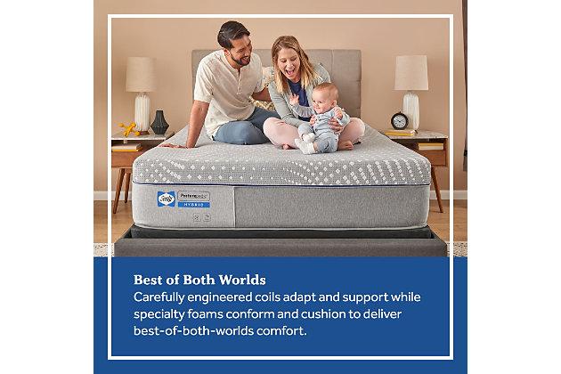 Sealy Bridle Lane Hybrid Medium Twin Mattress, Gray, large