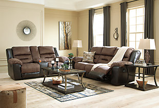 Earhart Reclining Sofa, Chestnut, large