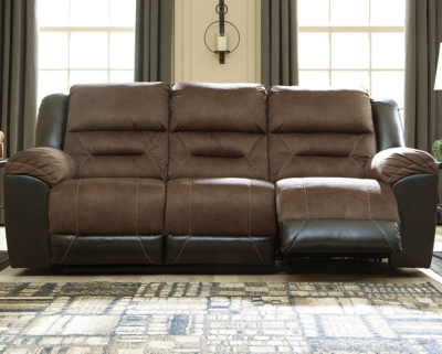 Earhart Reclining Sofa, Chestnut, large