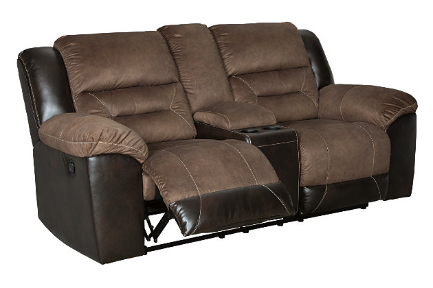 Superb Earhart Reclining Loveseat With Console Ashley Furniture Beatyapartments Chair Design Images Beatyapartmentscom