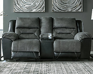 Earhart Sofa and Loveseat, Slate, large