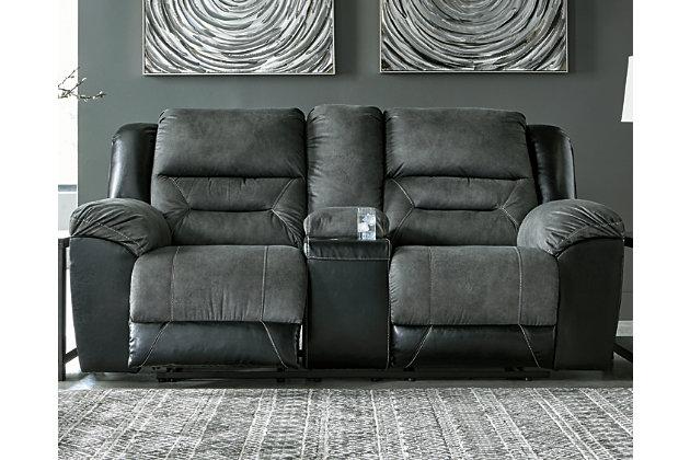 Earhart Sofa and Loveseat, Slate, large