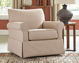 Almanza Swivel Glider Accent Chair, , rollover