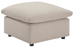 Savesto Oversized Ottoman, Ivory, large