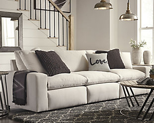 Savesto 3-Piece Sectional Sofa, Ivory, rollover