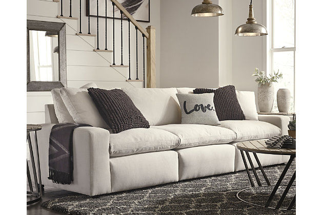 Savesto 3-Piece Sectional, Ivory, large