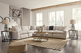 Savesto 6-Piece Sectional, Ivory, large
