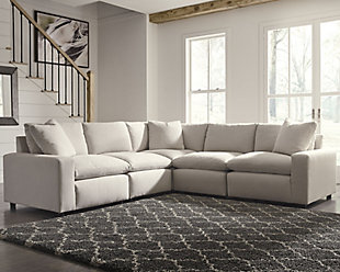 Savesto 6-Piece Sectional, Ivory, rollover