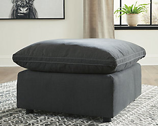 Savesto Oversized Ottoman, Charcoal, rollover