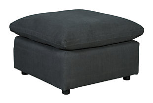 Savesto Oversized Ottoman, Charcoal, large