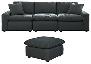 Savesto 3-Piece Sectional with Ottoman, , large
