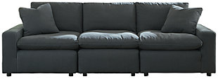 Savesto 3-Piece Sofa, Charcoal, large