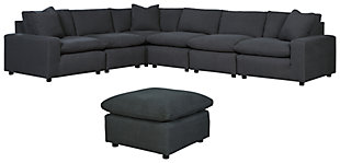 Savesto 6-Piece Sectional with Ottoman, , large