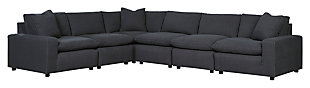 Savesto 6-Piece Sectional, Charcoal, large