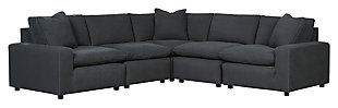 Savesto 5-Piece Sectional, Charcoal, large