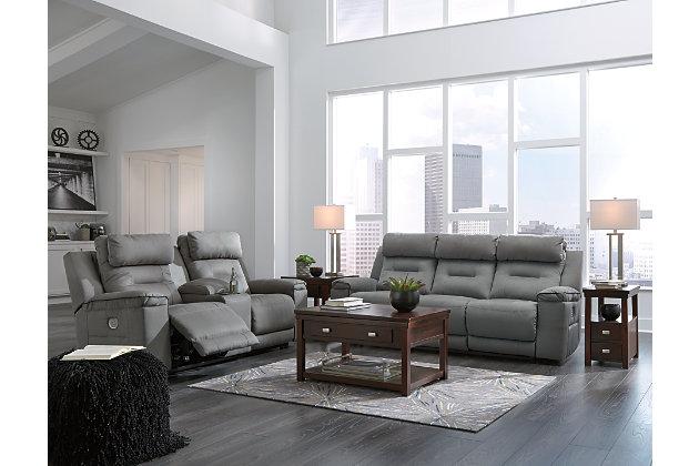 Trampton Power Reclining Sofa, , large