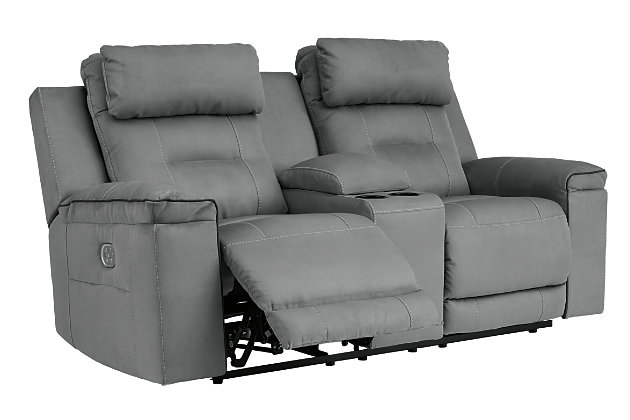 Trampton Power Reclining Loveseat With Console Ashley