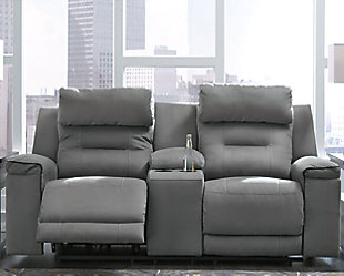 Trampton Power Reclining Loveseat with Console, , rollover