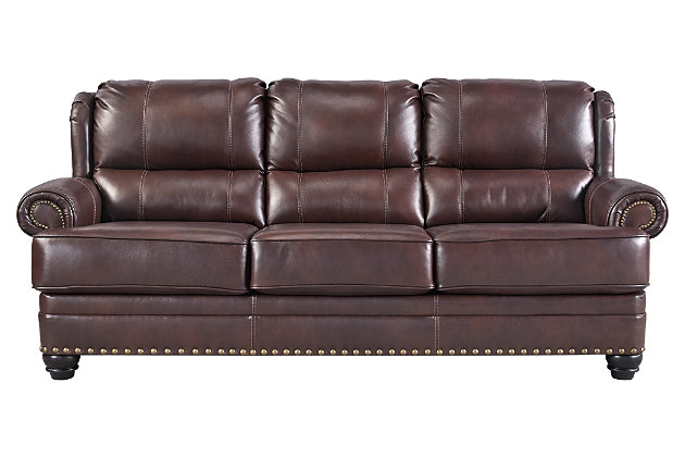 Glengary Sofa by Ashley HomeStore, Brown, Leather (100 %)