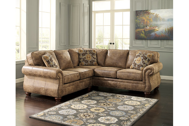 Larkinhurst 2-Piece Sectional by Ashley HomeStore, Brown, Polyester