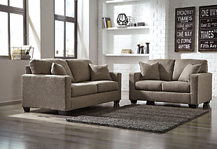 Large Hearne Sofa And Loveseat Rollover