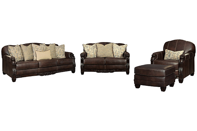 Embrook Sofa Loveseat Chair And, Ashley Furniture Leather Chair