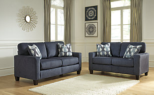 Large Burgos Sofa And Loveseat Set Rollover