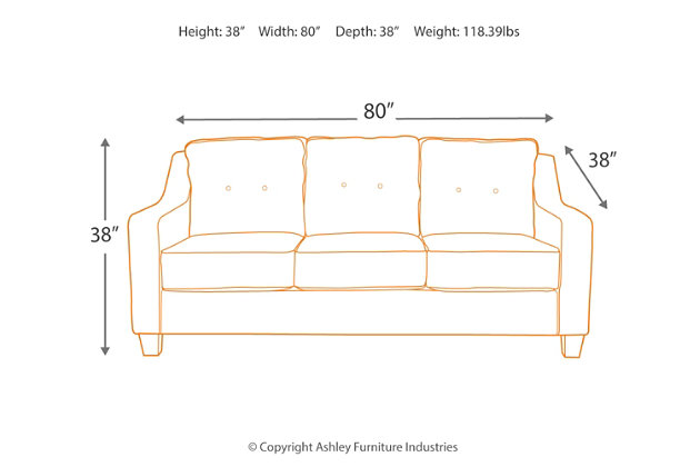 Karis Sofa, Pebble, large