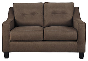 Karis Loveseat, Walnut, large