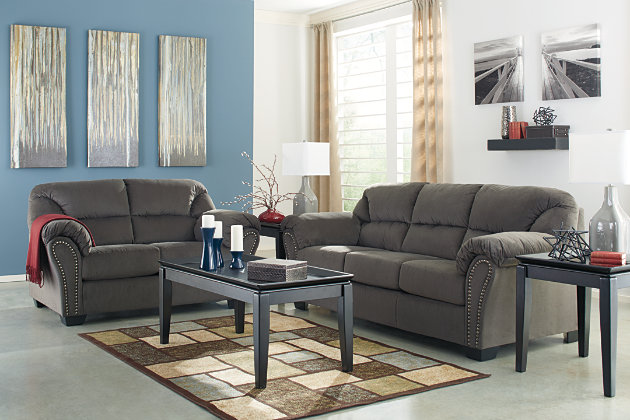 Modern Dark Gray Sofa Living Room Set