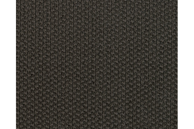 Kinlock series charcoal gray fabric swatch
