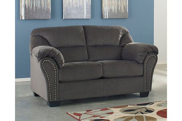 Kinlock Loveseat, Charcoal, large