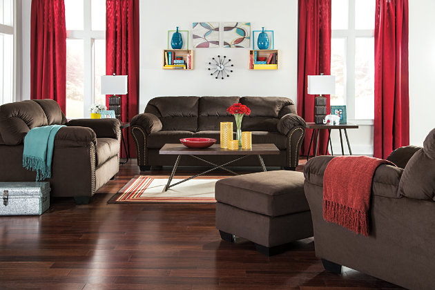 Chocolate Brown Loveseat and Sofa with Matching Chair and Ottoman