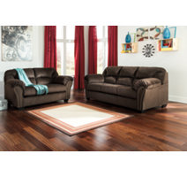 Chocolate A contemporary brown living room furniture set