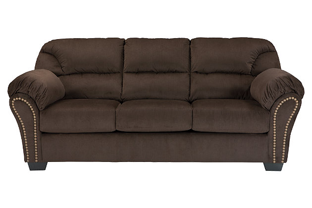 Brown Kinlock Sofa by Ashley HomeStore, Polyester (100 %)