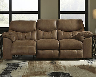 Boxberg Power Reclining Sofa, Bark, rollover