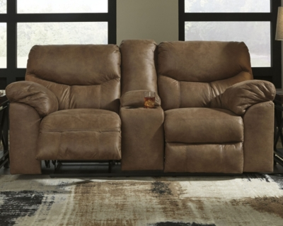 Reclining Loveseat Console Bark Power Product Photo 813